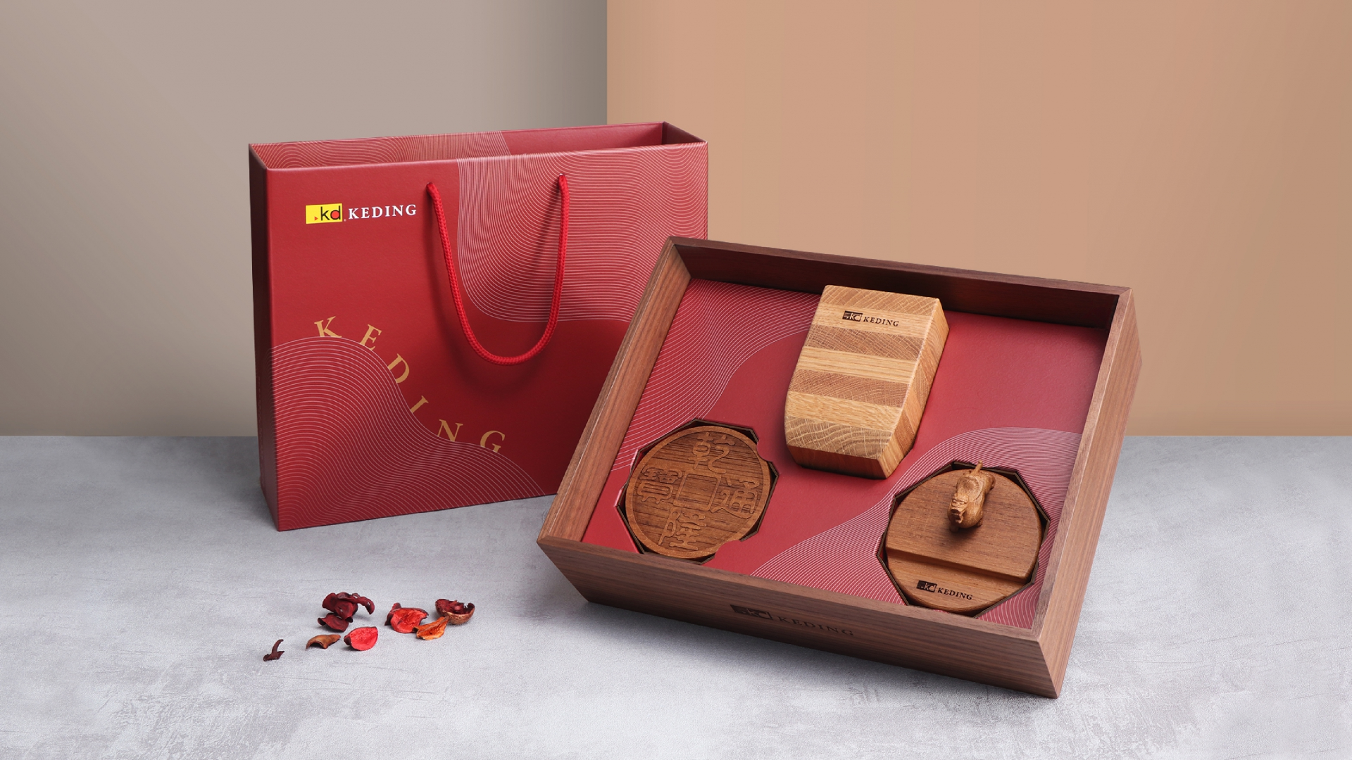 Crafted Wooden Gift Box(圖)