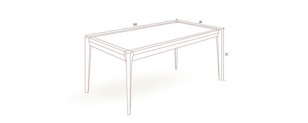160cm實木餐桌