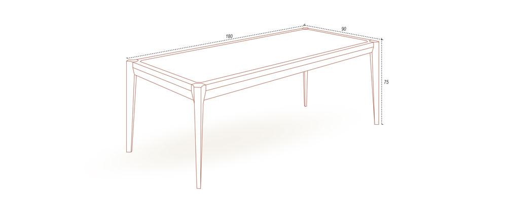 180cm實木餐桌