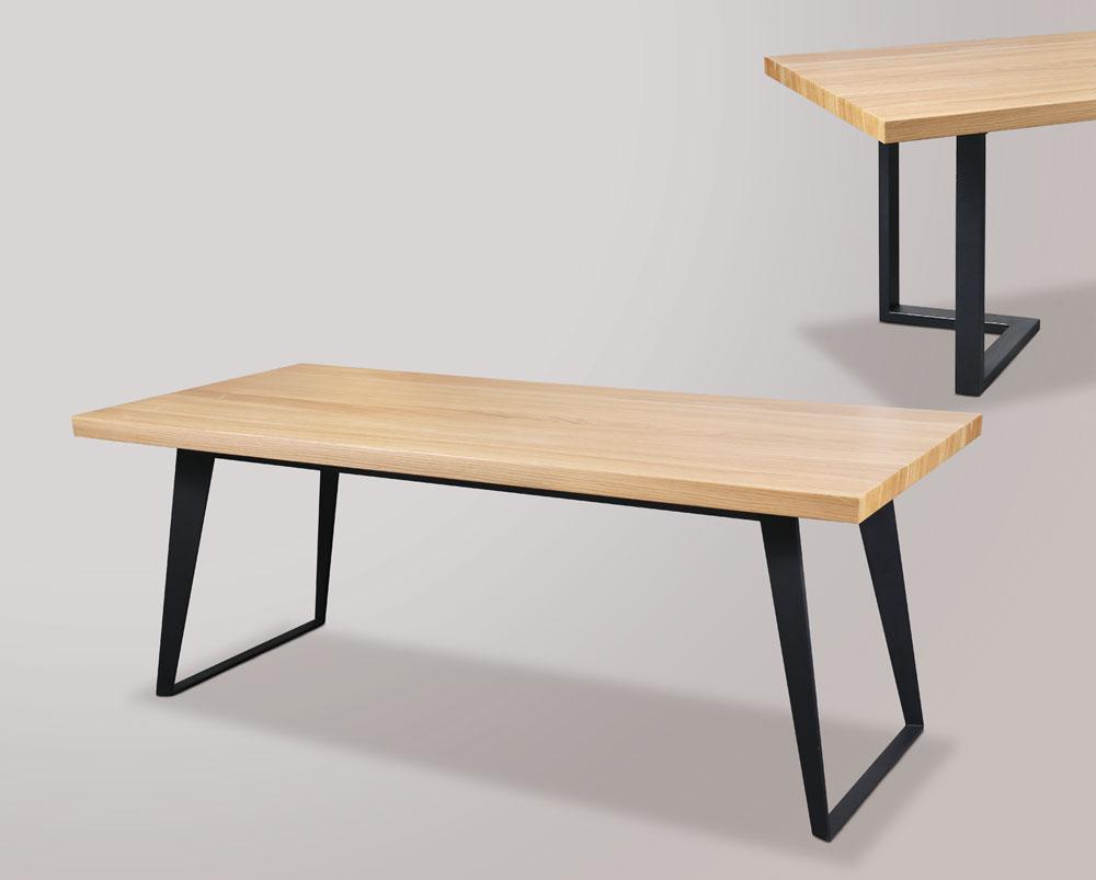 鐵件實木桌