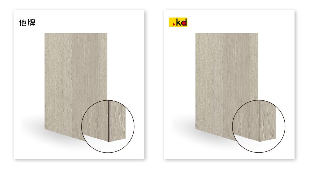 淺色板角線修邊差異