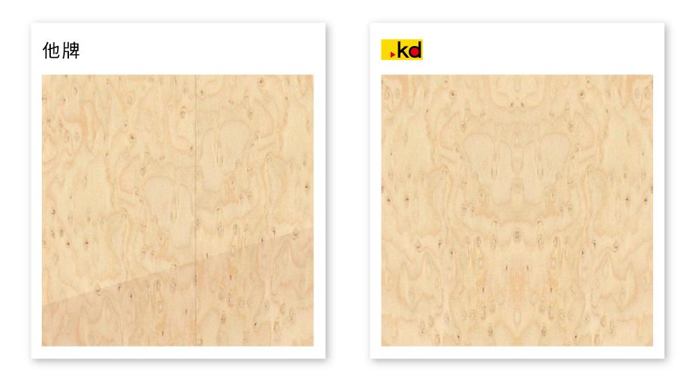 木皮刨切及貼合比較