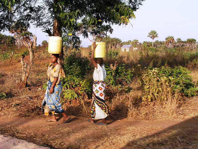 肯亞婦女辛勞的工作