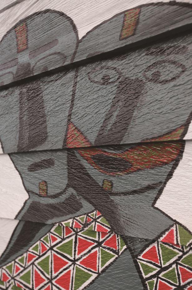 泰雅族特有的鮮豔圖騰