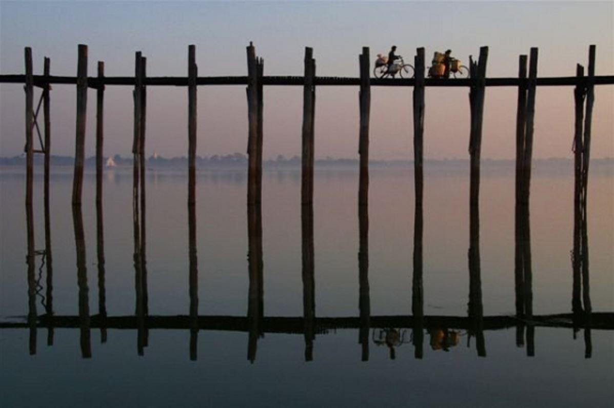 緬甸曼德勒的柚木橋