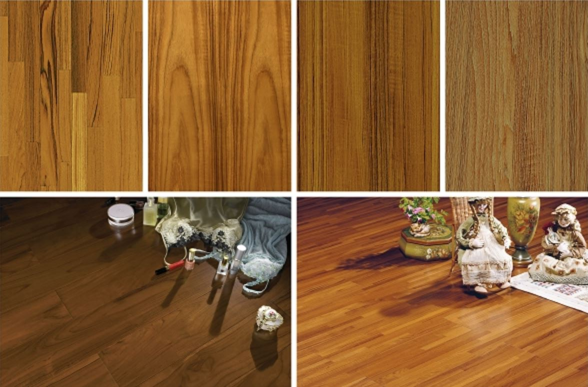 KD柚木木皮板與木地板